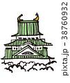 名古屋城 水彩画 38760932