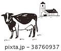 牛 牧場 酪農 水彩画 38760937