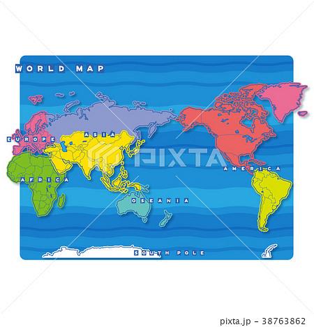 セカイ地図 地域色分け(英語) 38763862