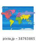 世界地図 地図 世界のイラスト 38763865