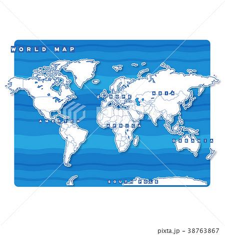 セカイ地図 白地図(英語) 38763867