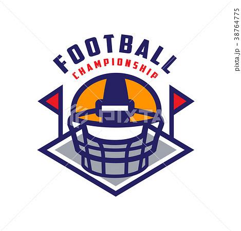 football championship logo template americanのイラスト素材
