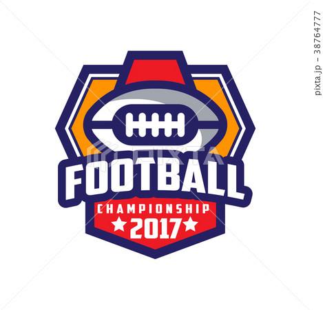 football championship 2017 logo template americanのイラスト素材