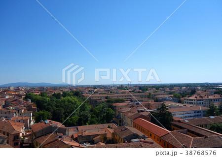 イタリア ピサの斜塔頂上からの街並み Italy Townscape 38768576