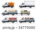 ベクトル トラック テンプレートのイラスト 38770080