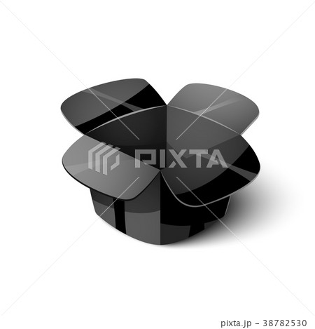 Empty cardboard packaging, open box icon in 38782530