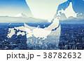 日本 握手 ビジネスマンの写真 38782632
