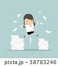 キャリアウーマン ビジネスウーマン 女性実業家のイラスト 38783246