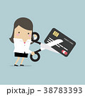 キャリアウーマン ビジネスウーマン カードのイラスト 38783393