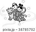 七夕 七夕祭り 織り姫のイラスト 38785702