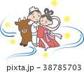 七夕 七夕祭り 織り姫のイラスト 38785703