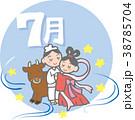 七夕 七夕祭り 織り姫のイラスト 38785704