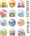 行事 季節 カレンダーのイラスト 38786389