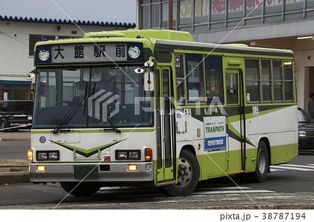 秋北バス(大館駅前・元国際興業バス)の写真素材 [38787194] - PIXTA