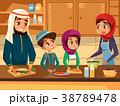 アラビア人 ファミリー 家庭のイラスト 38789478