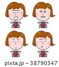 表情 女性 人物のイラスト 38790347
