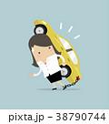 女性実業家 車 自動車のイラスト 38790744