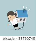 女性実業家 チェーン 鎖のイラスト 38790745