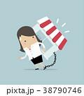 女性実業家 漫画 チェーンのイラスト 38790746