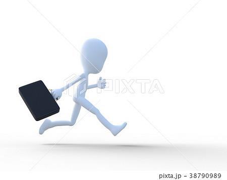 急ぐビジネスマンperming3DCGイラスト素材 38790989