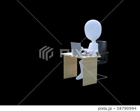 デスクワークperming3DCGイラスト素材 38790994