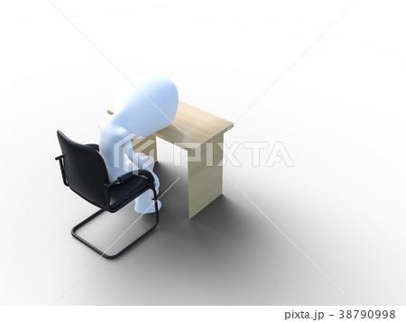 落ち込む社員perming3DCGイラスト素材 38790998