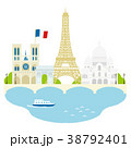 パリ 街並イラスト 38792401