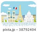 パリ 街並イラスト 38792404