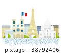 パリ 街並イラスト 38792406