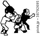 野球 見逃し 三振のイラスト 38792695