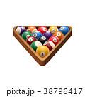 玉突き ビリヤード 撞球のイラスト 38796417