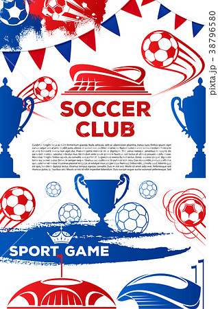 Vector soccer club football game poster 38796580