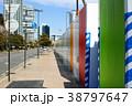 歩道に沿った工事現場の仮囲い 38797647