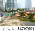 ジオラマ風の工事現場風景 38797654