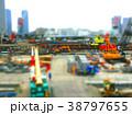 ジオラマ風の工事現場風景 38797655