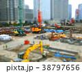 ジオラマ風の工事現場風景 38797656