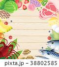食材 グリーティング フレームのイラスト 38802585