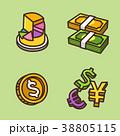 アイコン イコン 硬貨のイラスト 38805115