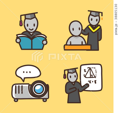 flat icons set - school objects and education items isolated on white background. 066 38805130