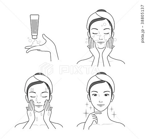 Icons set of cosmetics, beauty and symbols collection made in modern linear vector. 012 38805137