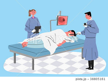 Illustration for a full medical examination, have regular checkups for your health. 003 38805161