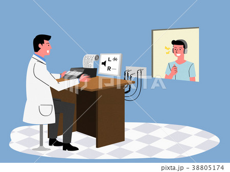 Illustration for a full medical examination, have regular checkups for your health. 015 38805174