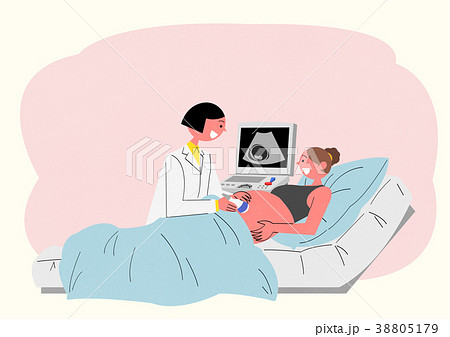 Illustration for a full medical examination, have regular checkups for your health. 007 38805179