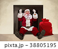 Vector - Santa's day, give a present to children all over the world on Christmas. it's express his busy Christmas. 005 38805195