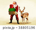 Vector - Santa's day, give a present to children all over the world on Christmas. it's express his busy Christmas. 007 38805196