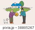 おじいさん 男性 老人のイラスト 38805267