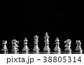 The King in battle chess game stand on chessboard 38805314