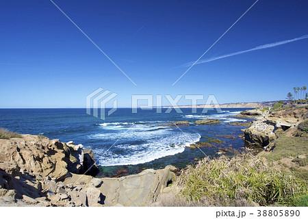 アメリカ合衆国カリフォルニア州サンディエゴのラホヤの海岸 38805890