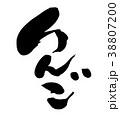 筆文字 りんご 果物のイラスト 38807200