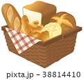 パン バスケット 食パンのイラスト 38814410